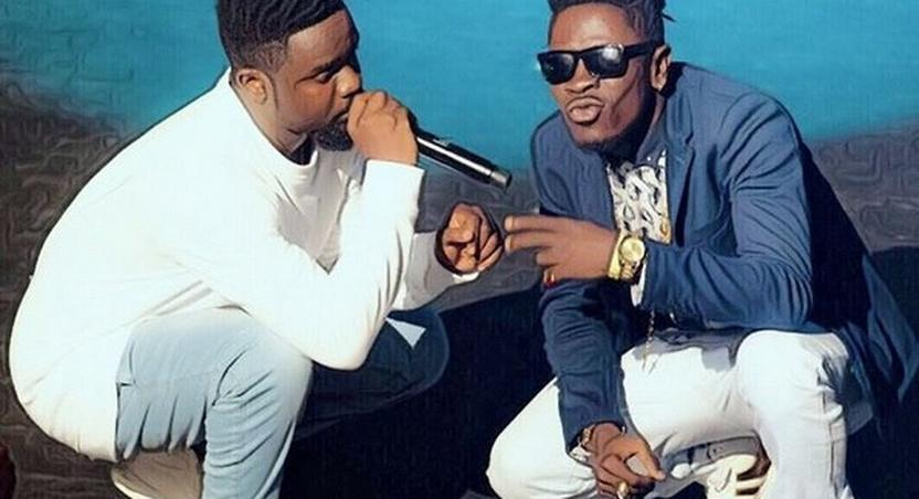 Sarkodie [left] and Shatta Wale [right]