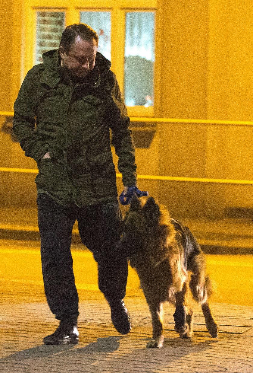 Kamil Durczok z psem