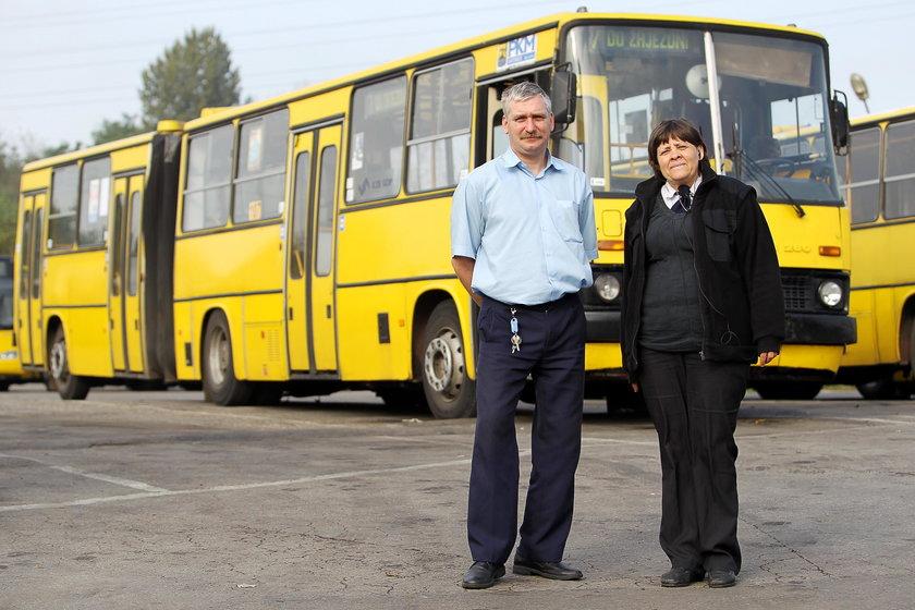 Leszek Tomeczek (36 l.) i Jolanta Kurzok (49 l.), kierowcy PKM w Katowicach