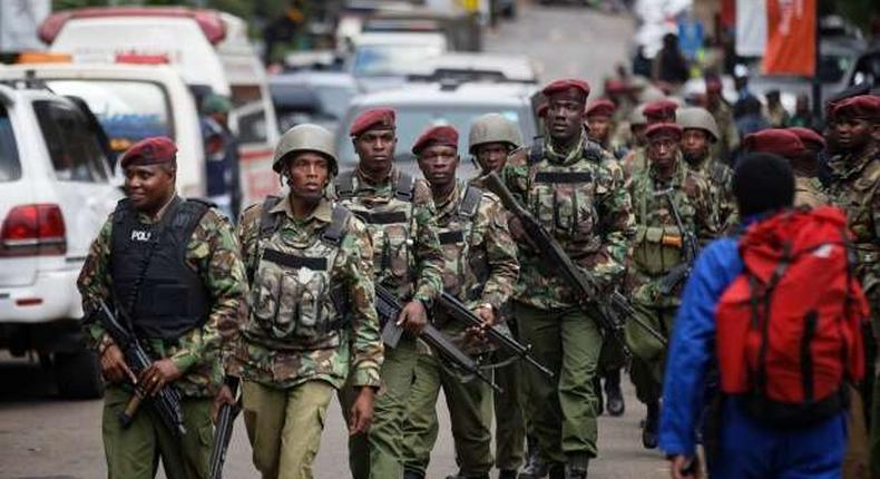 File image of police in Mombasa County