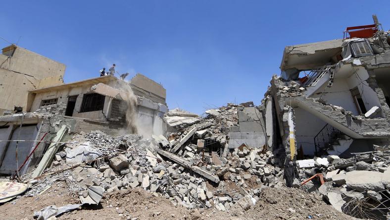 Zniszczenia w Mosulu
