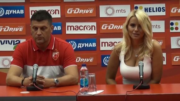Vladan Milojević i Tatjana Šajković pred meč Zvezda - HJK Helsinki