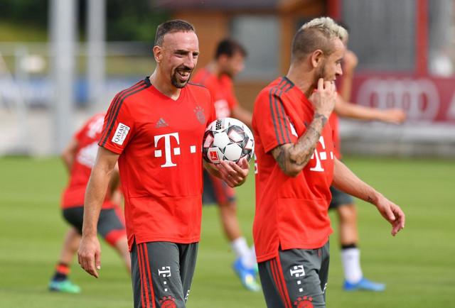 Frank Riberi na treningu Bajerna