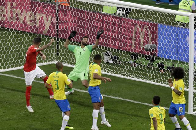Cuber postiže gol protiv Brazila
