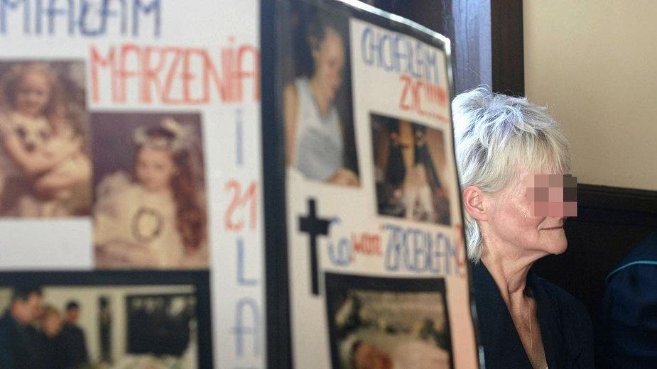Proces zabójców Doroty J. N/Z matka zamordowanej