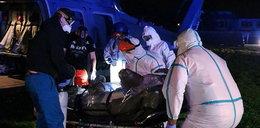 Policyjny Black Hawk transportował pielęgniarkę z koronawirusem