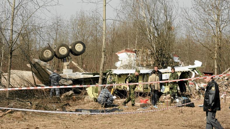 Wrak Tu-154 M, fot. Filip Klimaszewski / Agencja Gazeta