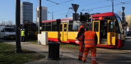 Zderzenie tramwaju z autobusem