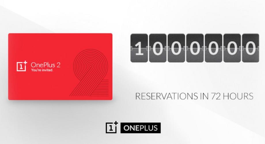 OnePlus 2: eine Million Reservierungen in 72 Stunden