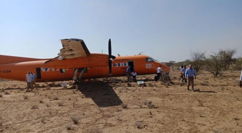 Fly 540 Airplane crash lands with passengers onboard (Photo)
