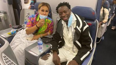 Michael Blackson brings fiancée to Ghana in style few hours after New York proposal (WATCH)