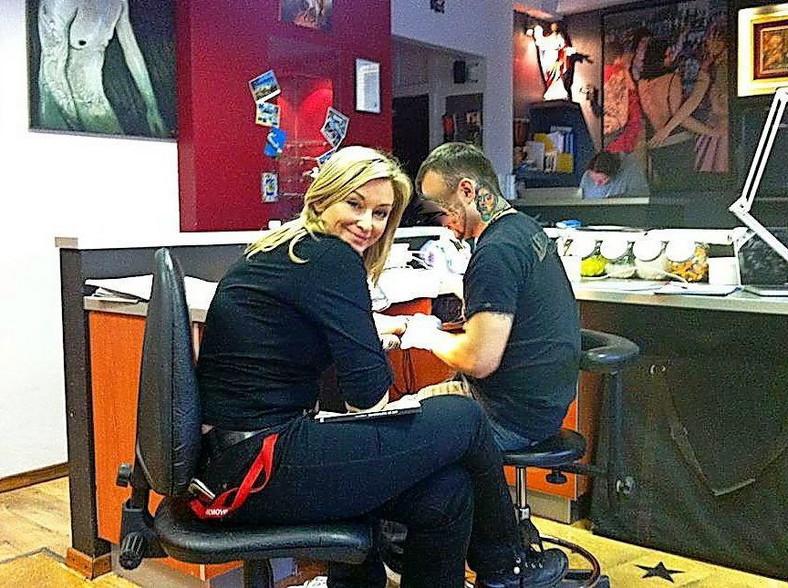 Martyna w studiu tatuażu/Zdjęcie z prywatnego profilu