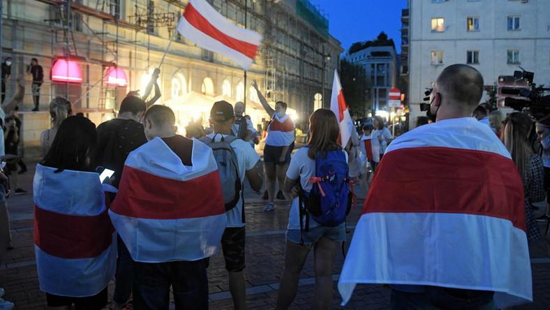 Wiec poparcia dla Białorusi