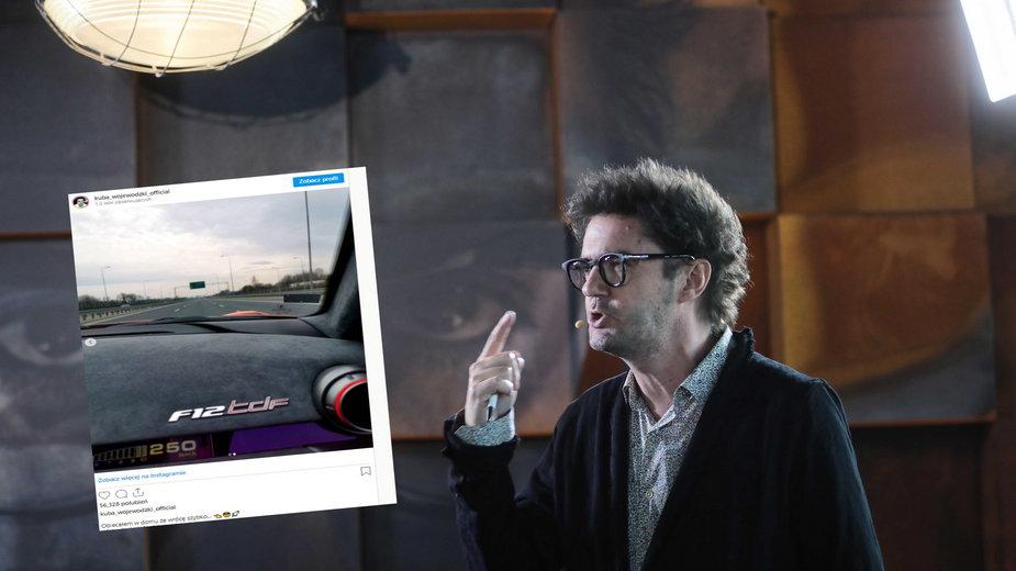 Kuba Wojewódzki opublikował zdjęcie ze swojego Ferrari. Policja: zdjęcia na Instagramie mogą być żartem