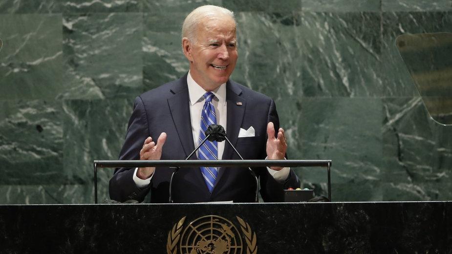 Prezydent Stanów Zjednoczonych podczas przemówienia przez Zgromadzeniem Ogólnym ONZ