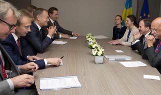 Szczyt UE: Przywódcy Niemiec, Francji i Ukrainy o sankcjach przeciwko Rosji
