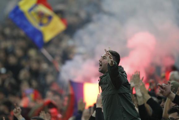 Detalj sa utakmice Rumunija, Švedska