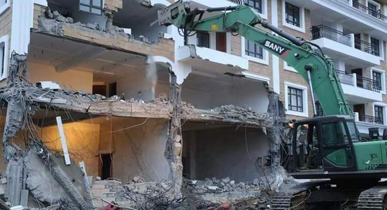 Pangani estate demolished