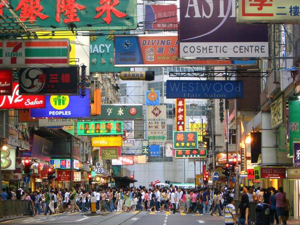 Szyldy na chińskiej ulicy
