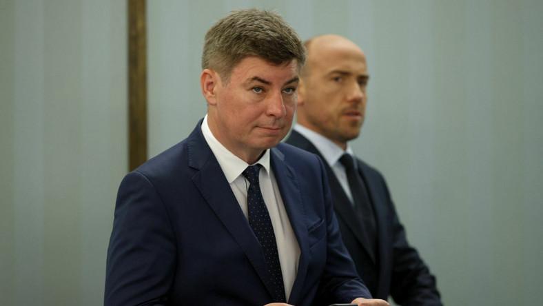 Jan Grabiec i lider PO Borys Budka