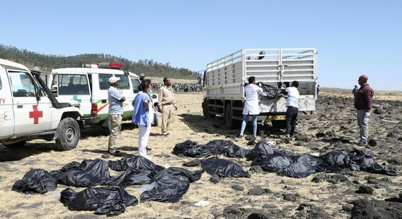 Scene of the Ethiopian Airlines plane crash