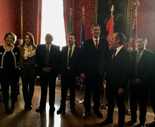 Aleksandar Vučić danas se u Venecija sastao sa Lukom Zajom, predsednikom regije Veneto