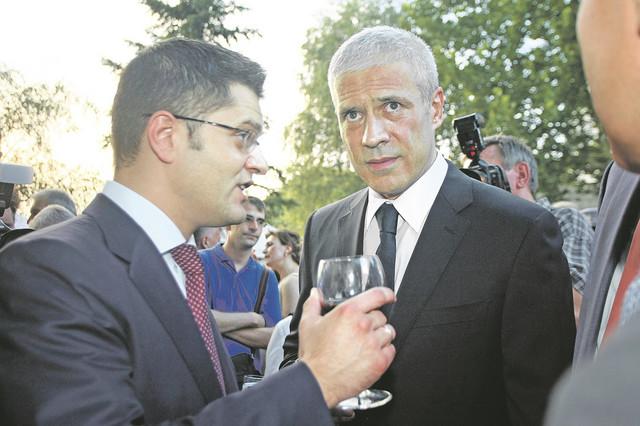 Vuk Jeremić i Boris Tadić