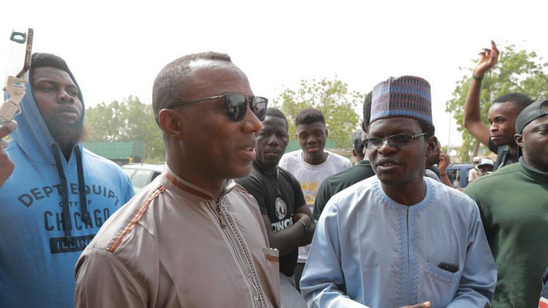 Omoyele Sowore (left) with running mate in the 2019 election Rabiu Rufai (right) [Facebook/Omoyele Sowore