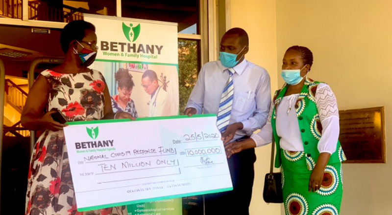 Coronavirus - Uganda: Donation from Bethany Women and Family Hospital for COVID-19 response
