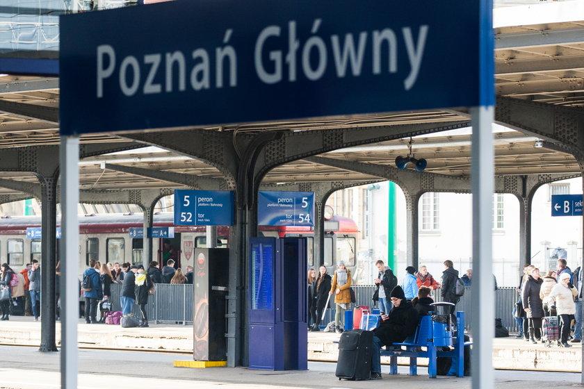 Podejrzany plecak zostawiony na peronie przyczyną ewakuacji dworca PKP w Poznaniu.