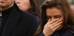 Natasza Urbańska płacze na pogrzebie Niny Andrycz