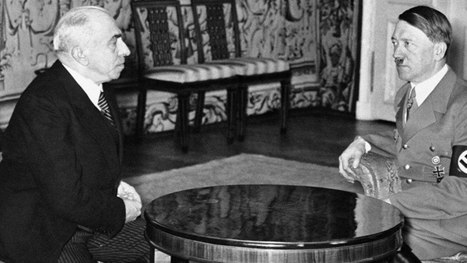 Emil Hácha i Adolf Hitler