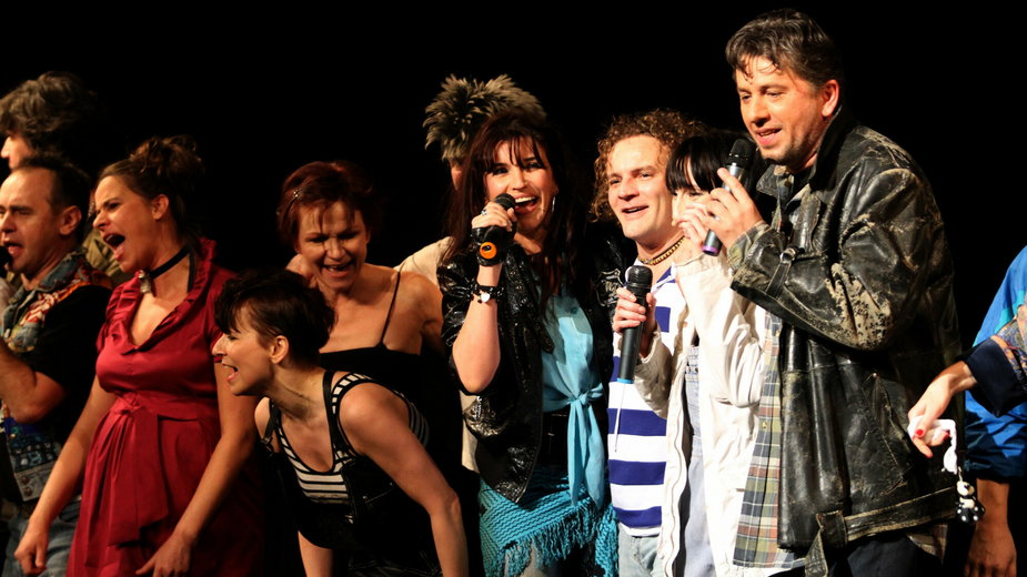 """20-lecie musicalu """"Metro"""". Na zdjęciu: Denisa Geislerova i Janusz Józefowicz"""