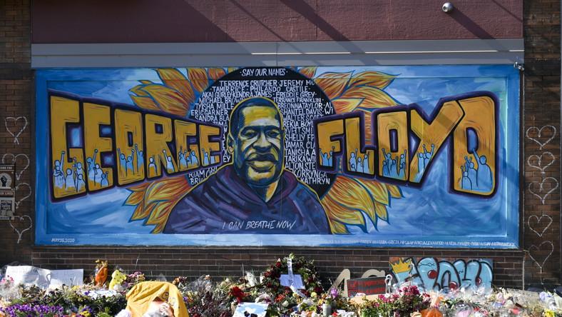 George Floyd na muralu