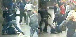Krwawa bójka na stacji metra FILM
