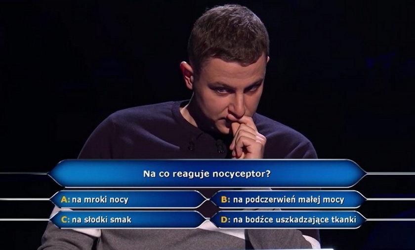Milionerzy - pytanie za pół miliona złotych. Co to jest nocyceptor?