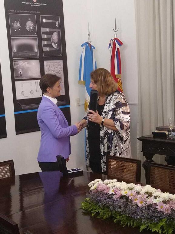 Ana Brnabić i Susana Ruiz Ćeruti