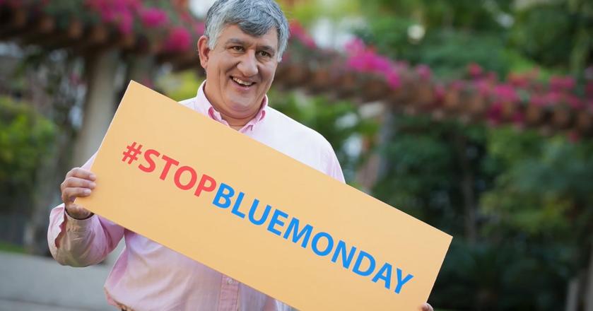 Cliff Arnall, twórca pseudonaukowej teorii o Blue Monday, w kampanii obalającej mit, który sam stworzył