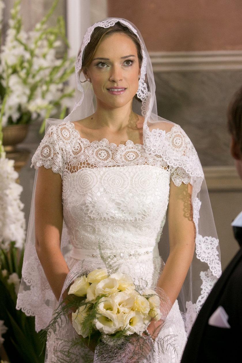 Alicja Bachleda-Curuś w sukni ślubnej