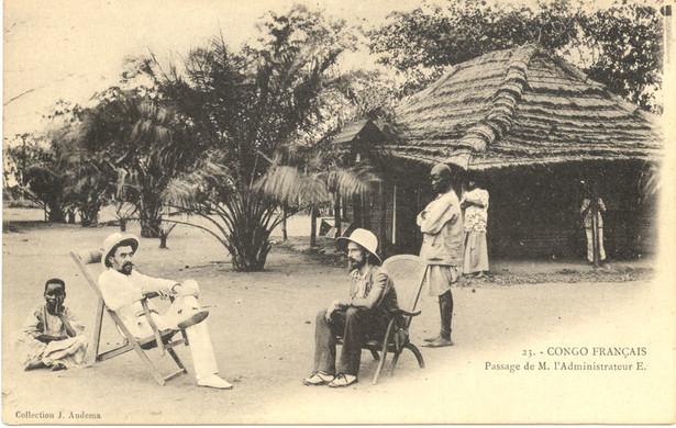 Francuski administrator kolonialny w Kongu (1905 r.)
