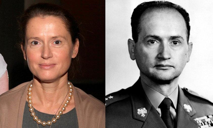 Monika Jaruzelska i Wojciech Jaruzelski.