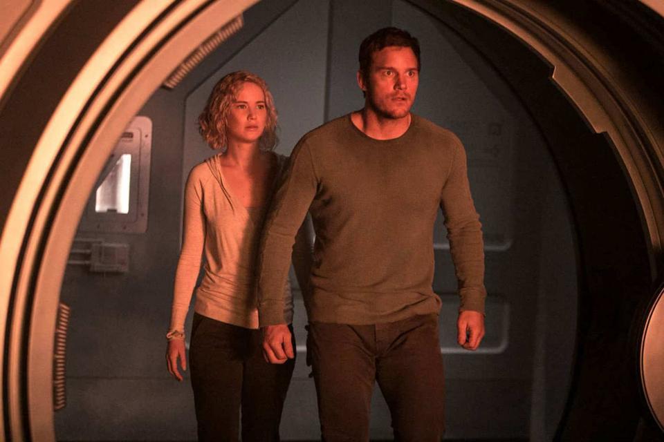 """Jennifer Lawrence i Chris Pratt, """"Pasażerowie"""""""