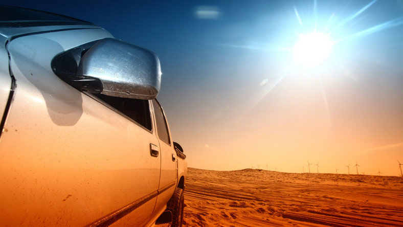 Samochód na słońcu
