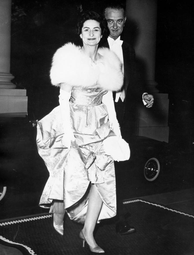 Lejdi Berd Džonson sa suprugom 1963. u Parizu
