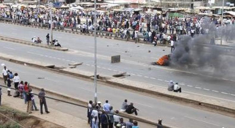 Students block road over rising insecurity in Juja