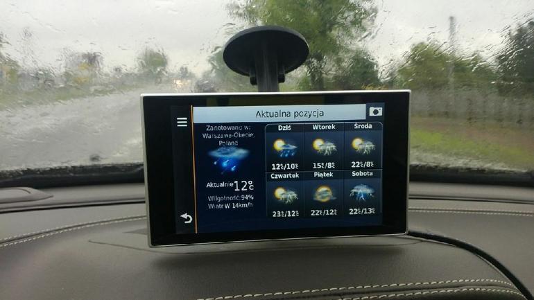 Prognoza pogody w nawigacji? W Garminie nuvi 3597LMT to możliwe.