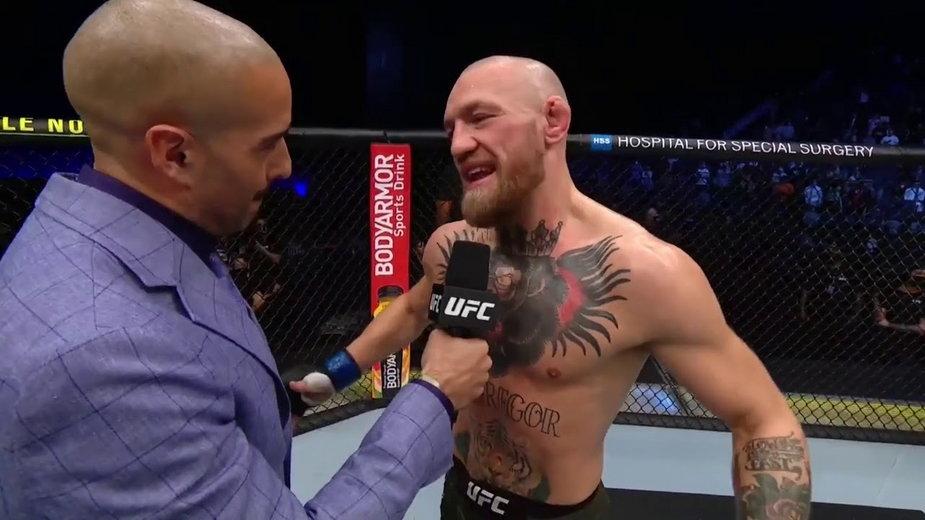 """""""Szczerze mówiąc, czuję się okropnie"""" – Pierwsze słowa Conora McGregora po przegranej przez TKO"""