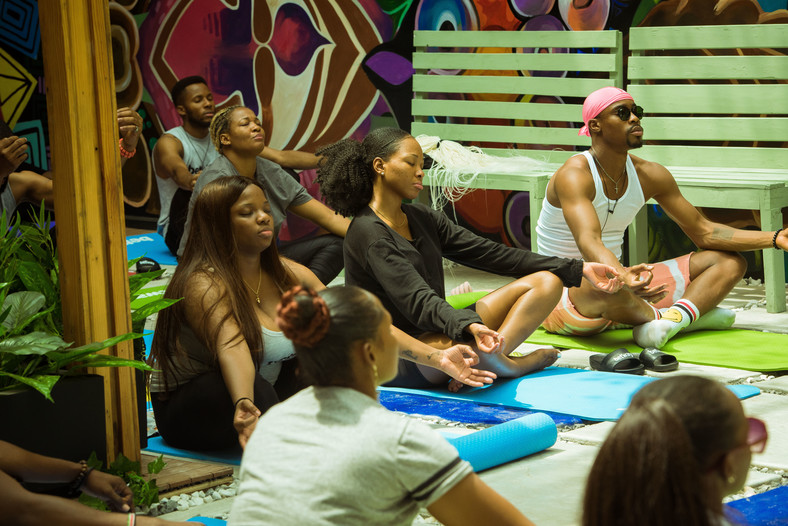 Housemates were treated to an afternoon of Yoga [BHM]