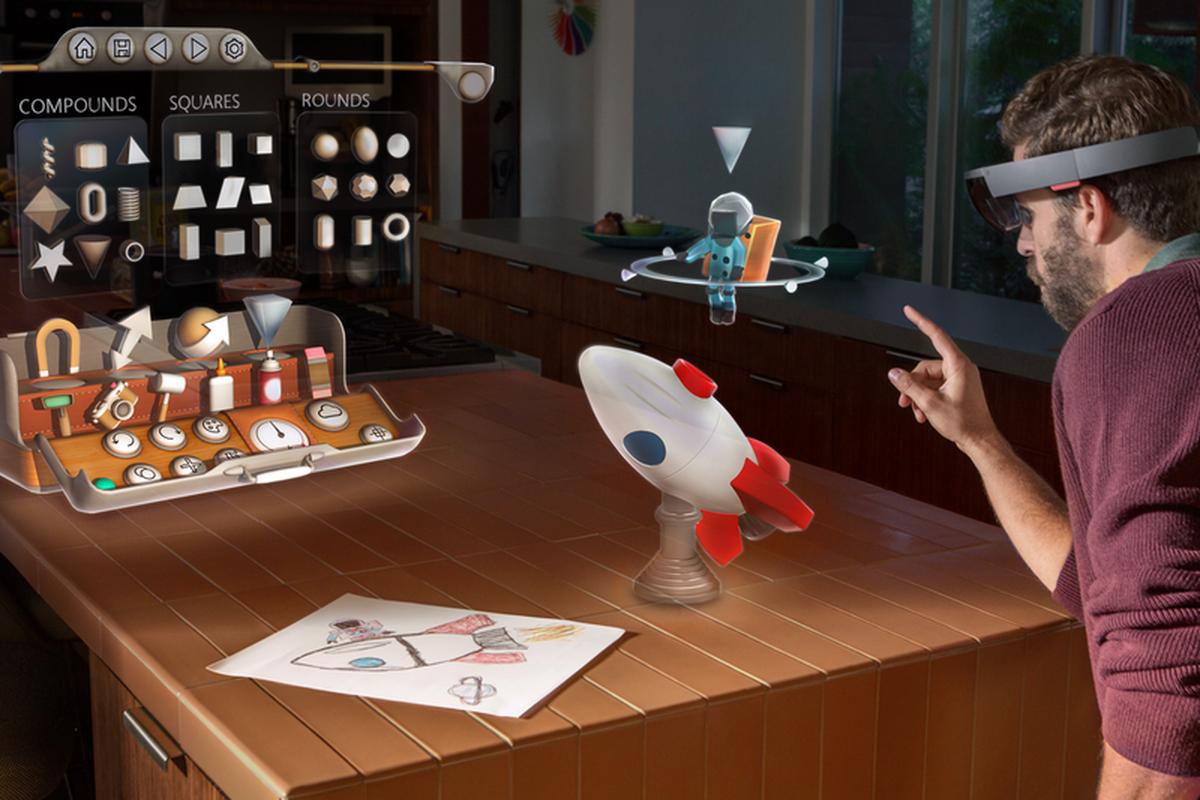 Gogle HoloLens od Microsoftu pokazują jak może wyglądać przyszłość, o której mówił Zuckerberg