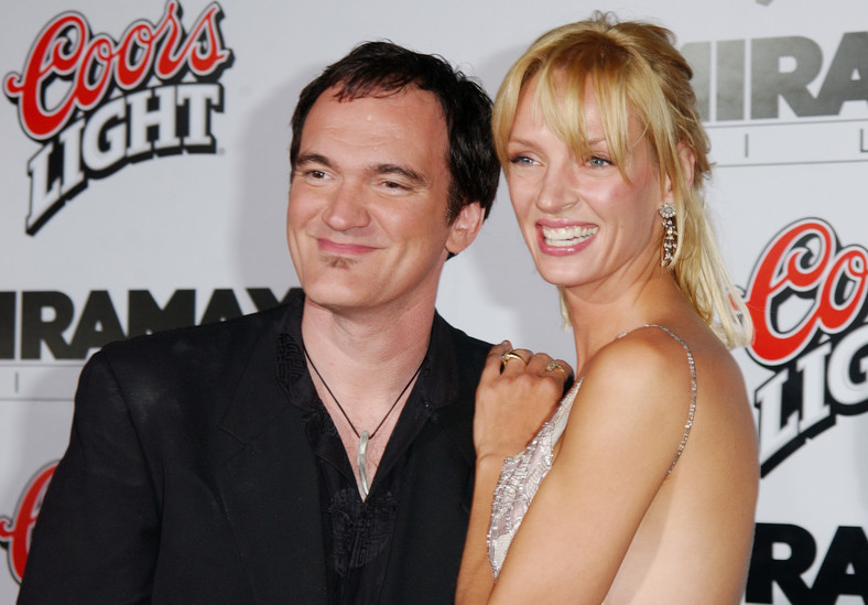 "Uma Thurman i Quentin Tarantino na premierze filmu ""Kill Bill vol.1"""